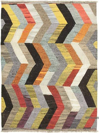 New Contemporary Handwoven Wool Rug - 5'11'' x 8' (71 in. x 96 in.) - Old Yarn