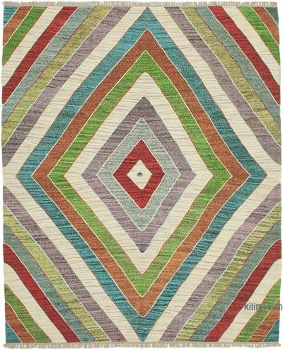 New Contemporary Handwoven Wool Rug - 8'3'' x 10'4'' (99 in. x 124 in.) - Old Yarn