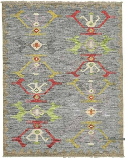 New Contemporary Handwoven Wool Rug - 8'1'' x 10'3'' (97 in. x 123 in.) - Old Yarn
