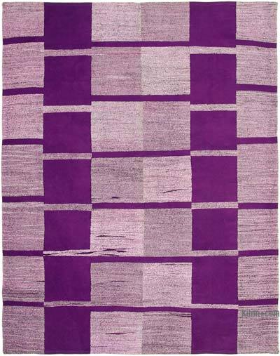 New Contemporary Handwoven Wool Rug - 7'10'' x 10'1'' (94 in. x 121 in.) - Old Yarn