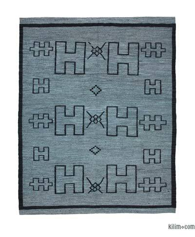 New Contemporary Handwoven Wool Rug - 8'6'' x 10'11'' (102 in. x 131 in.) - Old Yarn