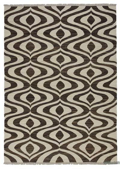 New Contemporary Handwoven Wool Rug - 9' x 12'6'' (108 in. x 150 in.) - Old Yarn