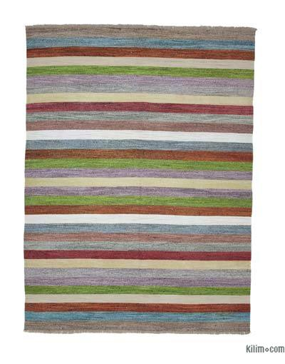 "New Contemporary Handwoven Wool Rug - 9' x 12'2"" (108 in. x 146 in.) - Old Yarn"