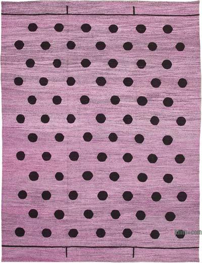 "New Contemporary Handwoven Wool Rug - 10'1"" x 14'1"" (121 in. x 169 in.) - Old Yarn"
