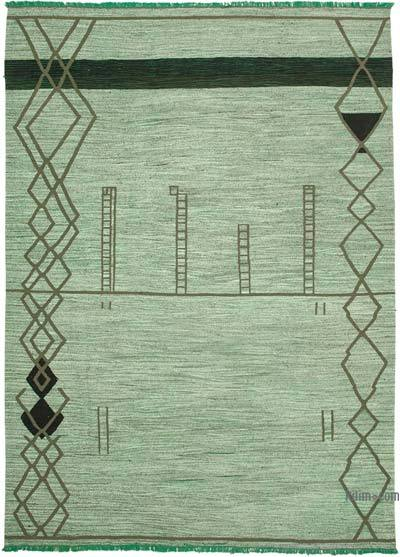 "New Contemporary Handwoven Wool Rug - 10' x 14'1"" (120 in. x 169 in.) - Old Yarn"