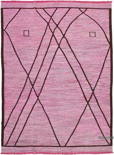 "New Contemporary Handwoven Wool Rug - 9'11"" x 14' (119 in. x 168 in.) - Old Yarn"