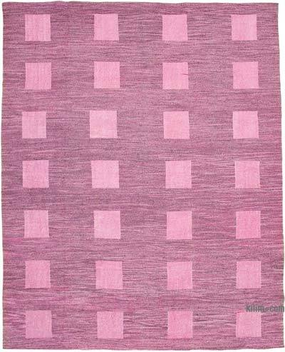"New Contemporary Handwoven Wool Rug - 10'2"" x 13' (122 in. x 156 in.) - Old Yarn"