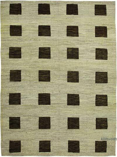 "New Contemporary Handwoven Wool Rug - 10' x 13'11"" (120 in. x 167 in.) - Old Yarn"