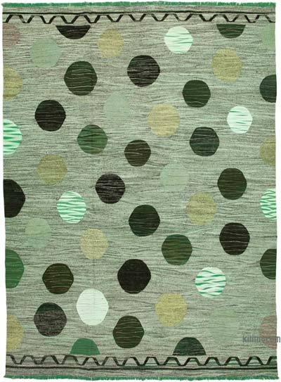 "New Contemporary Handwoven Wool Rug - 10' x 14'2"" (120 in. x 170 in.) - Old Yarn"