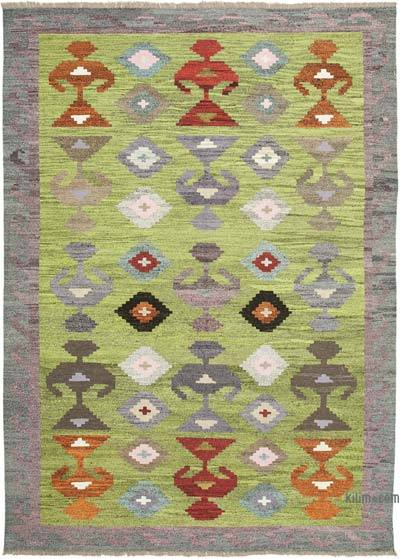 New Contemporary Handwoven Wool Rug - 9'11'' x 13'7'' (119 in. x 163 in.) - Old Yarn