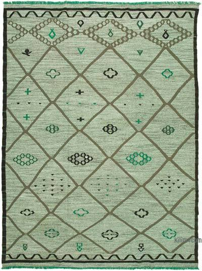 "New Contemporary Handwoven Wool Rug - 10'3"" x 14' (123 in. x 168 in.) - Old Yarn"