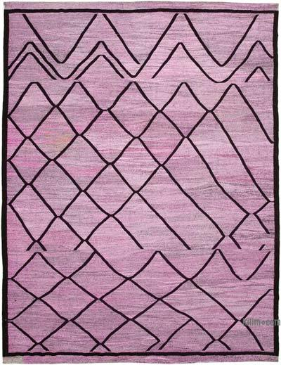 New Contemporary Handwoven Wool Rug - 10'6'' x 13'11'' (126 in. x 167 in.) - Old Yarn