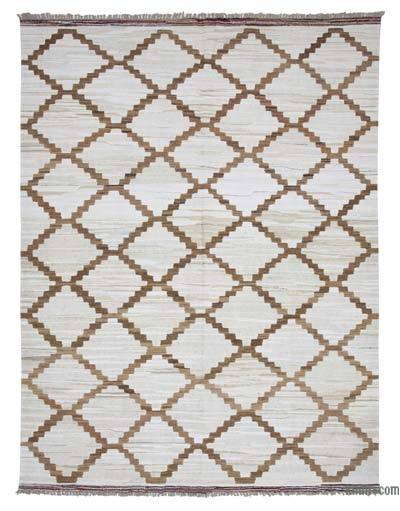 "New Contemporary Handwoven Wool Rug - 8'4"" x 10'11"" (100 in. x 131 in.) - Old Yarn"