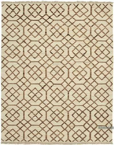 New Contemporary Handwoven Wool Rug - 8'1'' x 10'4'' (97 in. x 124 in.) - Old Yarn