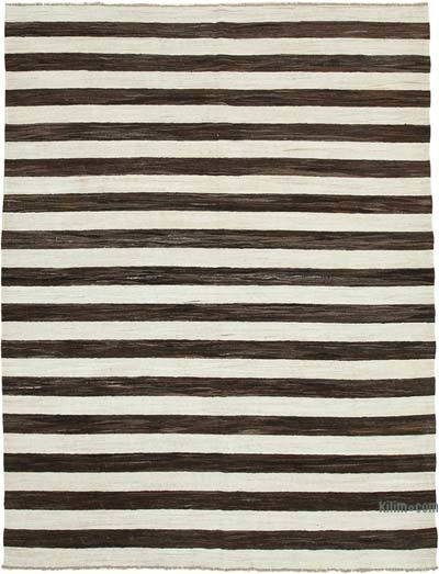 New Contemporary Handwoven Wool Rug - 7'10'' x 10'4'' (94 in. x 124 in.) - Old Yarn