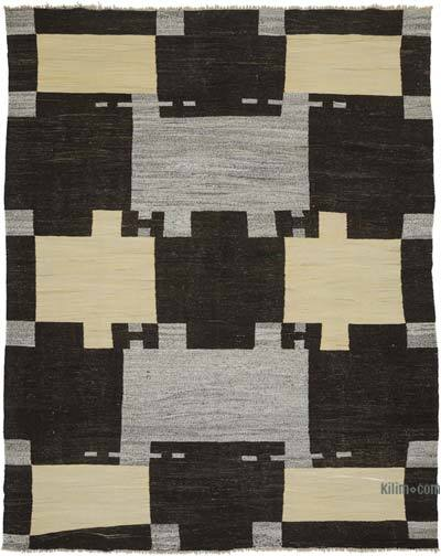 "New Contemporary Handwoven Wool Rug - 8'2"" x 10'4"" (98 in. x 124 in.) - Old Yarn"