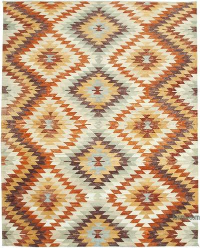 New Contemporary Handwoven Wool Rug - 9'3'' x 11'9'' (111 in. x 141 in.) - Old Yarn