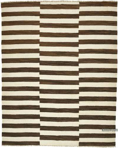 New Contemporary Handwoven Wool Rug - 8'5'' x 10'8'' (101 in. x 128 in.) - Old Yarn
