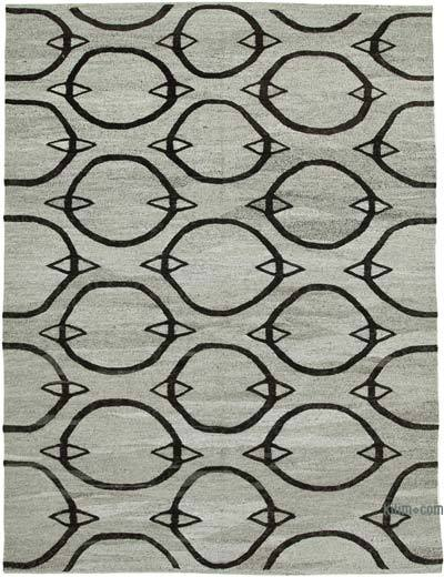 New Contemporary Handwoven Wool Rug - 7'9'' x 10'7'' (93 in. x 127 in.) - Old Yarn