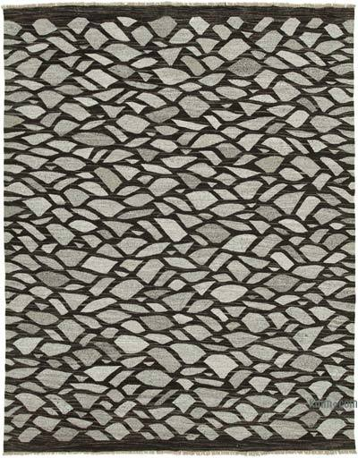 New Contemporary Handwoven Wool Rug - 8'3'' x 10'5'' (99 in. x 125 in.) - Old Yarn