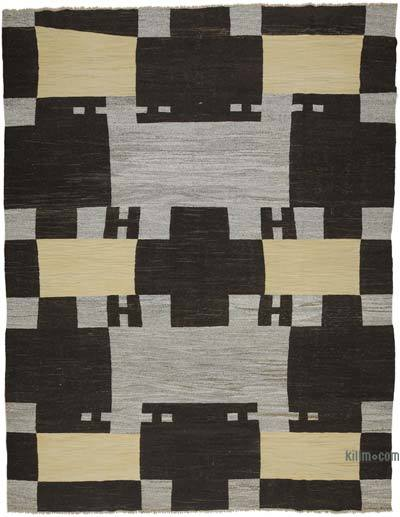 "New Contemporary Handwoven Wool Rug - 10'3"" x 13'5"" (123 in. x 161 in.) - Old Yarn"