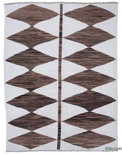 New Contemporary Handwoven Wool Rug - 8'4'' x 10'11'' (100 in. x 131 in.) - Old Yarn