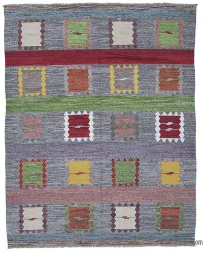 New Contemporary Handwoven Wool Rug - 8' x 10'1'' (96 in. x 121 in.) - Old Yarn