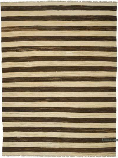 New Contemporary Handwoven Wool Rug - 7'11'' x 10'9'' (95 in. x 129 in.) - Old Yarn