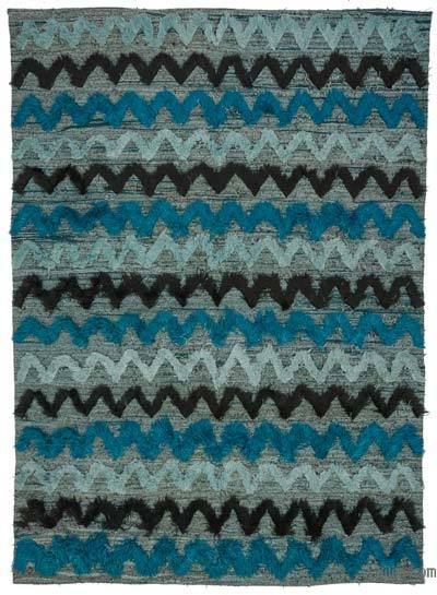 "New Contemporary Handwoven Wool Rug - 8'1"" x 12' (97 in. x 144 in.) - Old Yarn"