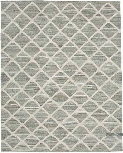 "New Contemporary Handwoven Wool Rug - 8' x 10'1"" (96 in. x 121 in.) - Old Yarn"