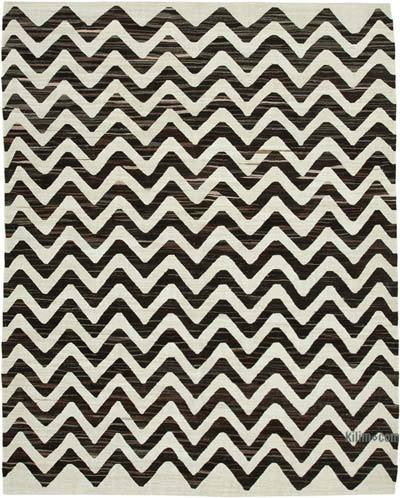 New Contemporary Handwoven Wool Rug - 8' x 10'2'' (96 in. x 122 in.) - Old Yarn