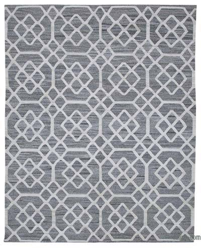 New Contemporary Handwoven Wool Rug - 7'10'' x 9'11'' (94 in. x 119 in.) - Old Yarn
