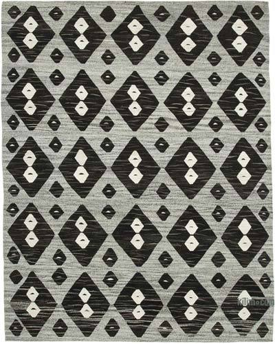New Contemporary Handwoven Wool Rug - 8' x 10'4'' (96 in. x 124 in.) - Old Yarn