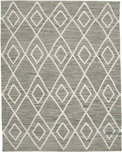 New Contemporary Handwoven Wool Rug - 7'9'' x 10' (93 in. x 120 in.) - Old Yarn