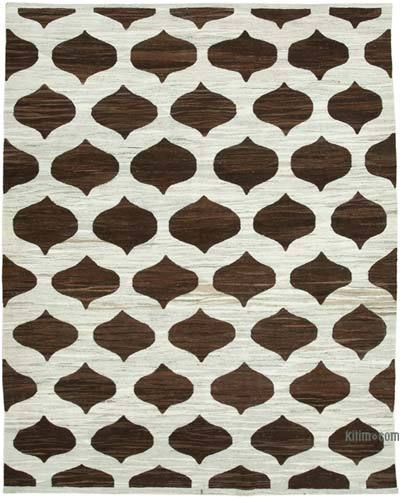 New Contemporary Handwoven Wool Rug - 7'11'' x 10'4'' (95 in. x 124 in.) - Old Yarn