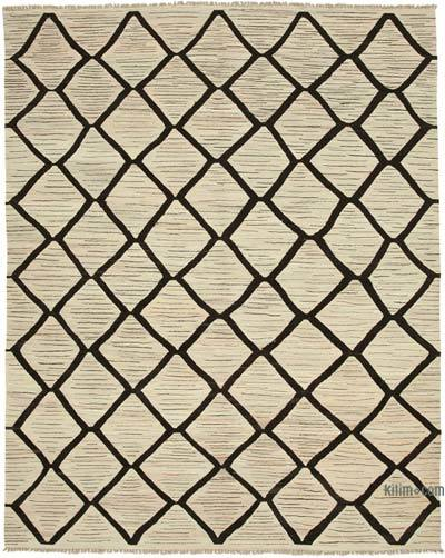 "New Contemporary Handwoven Wool Rug - 8'1"" x 10' (97 in. x 120 in.) - Old Yarn"