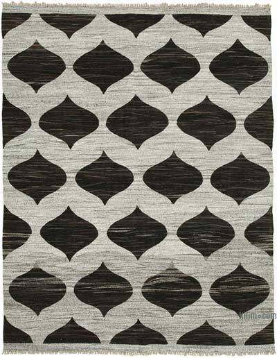 "New Contemporary Handwoven Wool Rug - 7'11"" x 10'4"" (95 in. x 124 in.) - Old Yarn"