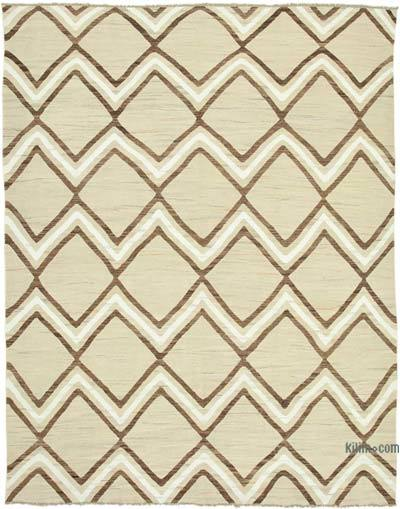 New Contemporary Handwoven Wool Rug - 8'2'' x 10'6'' (98 in. x 126 in.) - Old Yarn