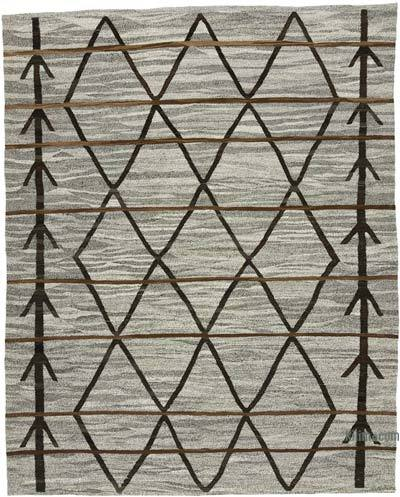 New Contemporary Handwoven Wool Rug - 8' x 10' (96 in. x 120 in.) - Old Yarn