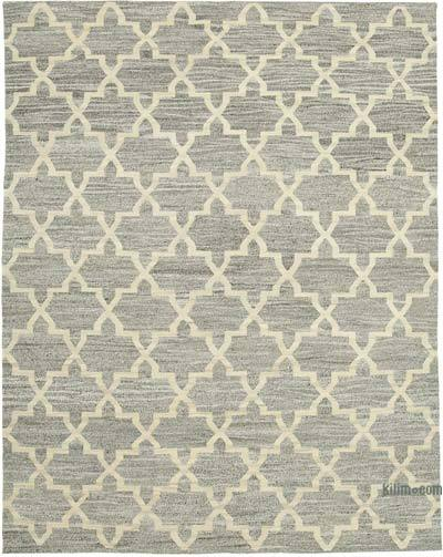 "New Contemporary Handwoven Wool Rug - 7'11"" x 10' (95 in. x 120 in.) - Old Yarn"