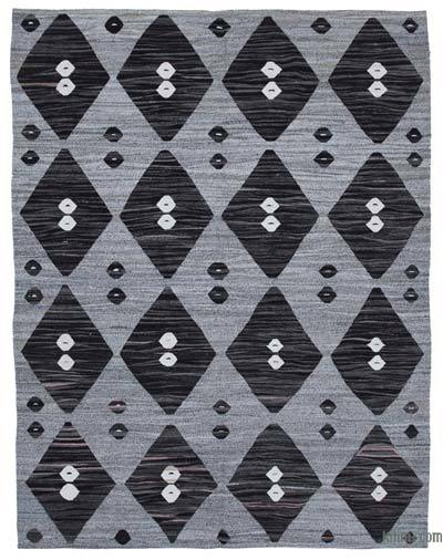 "New Contemporary Handwoven Wool Rug - 8' x 10'5"" (96 in. x 125 in.) - Old Yarn"