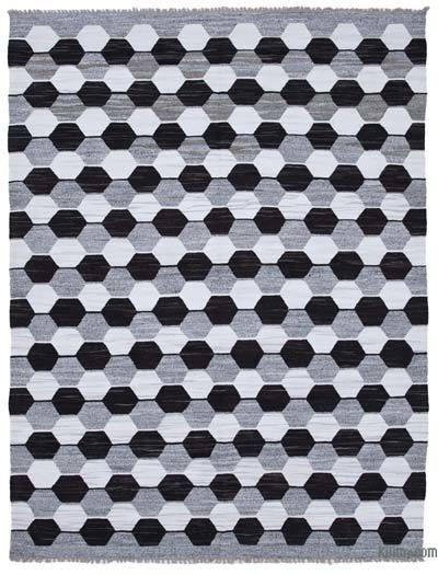 New Contemporary Handwoven Wool Rug - 8'3'' x 10'9'' (99 in. x 129 in.) - Old Yarn