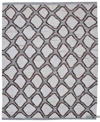 New Contemporary Handwoven Wool Rug - 8' x 9'11'' (96 in. x 119 in.) - Old Yarn