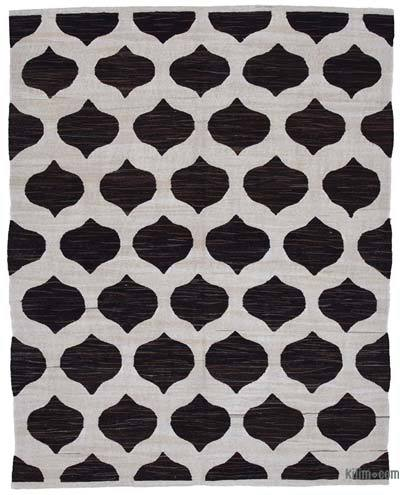 New Contemporary Handwoven Wool Rug - 8'1'' x 10'2'' (97 in. x 122 in.) - Old Yarn