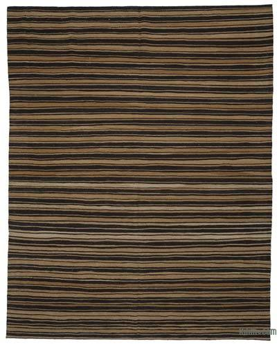 "New Contemporary Handwoven Wool Rug - 8'6"" x 10'10"" (102 in. x 130 in.) - Old Yarn"