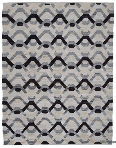 New Contemporary Handwoven Wool Rug - 7'11'' x 10'3'' (95 in. x 123 in.) - Old Yarn