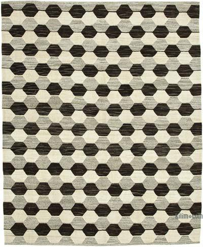 New Contemporary Handwoven Wool Rug - 7'11'' x 10' (95 in. x 120 in.) - Old Yarn