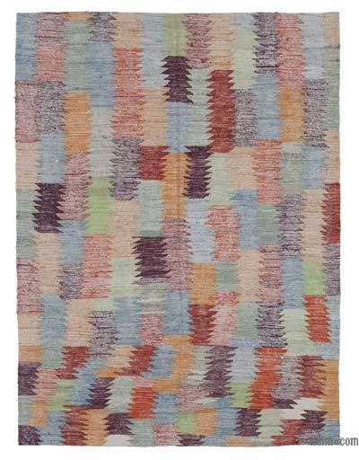 "New Contemporary Handwoven Wool Rug - 4'7"" x 6'1"" (55 in. x 73 in.) - Old Yarn"