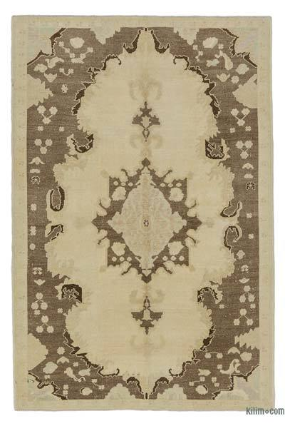 All Wool Hand Knotted Vintage Area Rug