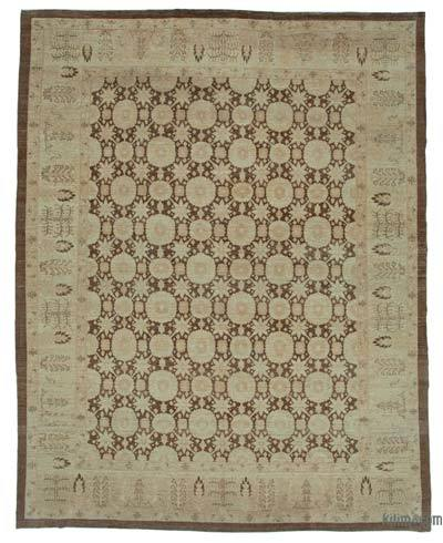 "New Hand Knotted All Wool Oushak Rug - 9'10"" x 12'6"" (118 in. x 150 in.)"